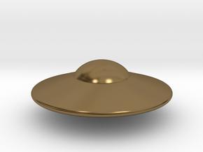 Alien Spaceship Custom Monopoly Piece in Polished Bronze