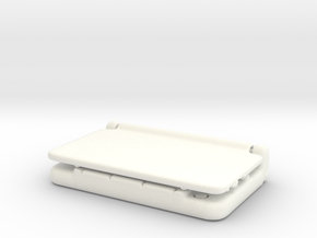 Mini Nintendo 3dsXL: 1/4 Scale in White Strong & Flexible Polished