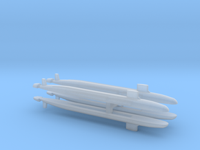 Virginia SSN x 4 , 1/6000 in Smooth Fine Detail Plastic