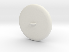Button Plain Base WithRing Inches Remeshed in White Natural Versatile Plastic
