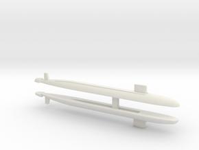 Virginia SSN x 2, 1/2400 in White Natural Versatile Plastic