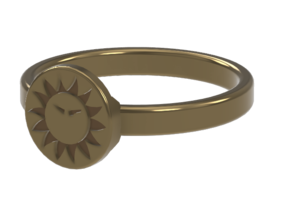 Ring of Everlasting Sun in Polished Bronze