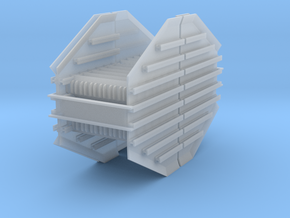 Mid Racks 2-pack for Rail Train HO in Smooth Fine Detail Plastic