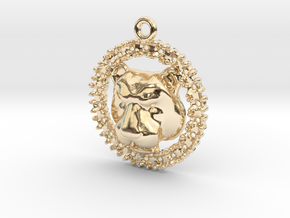 Pendant Lioness in 14k Gold Plated