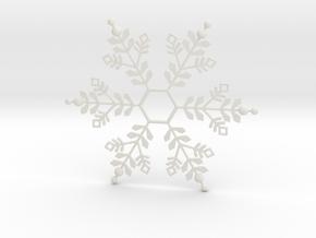 Snowflake Pendant 1 in White Natural Versatile Plastic