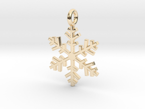 Snowflake Charm 1 in 14K Yellow Gold