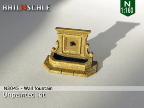 Wall fountain (N 1:160) in Frosted Ultra Detail
