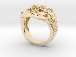 Botanika Mechanicum Ring SIZE 11 in 14k Gold Plated Brass