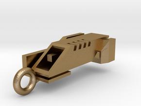 Ingress Portal Key Pendant ( 1.25in long ) in Polished Gold Steel