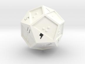 Braille D12 in White Processed Versatile Plastic