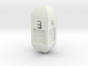 Braille D4 in White Natural Versatile Plastic