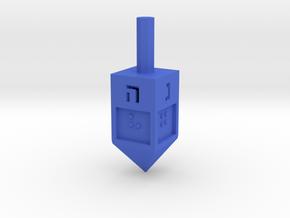 Braille Dreidel in Blue Processed Versatile Plastic