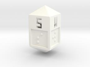 Braille Direction Die in White Processed Versatile Plastic