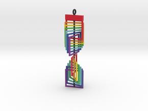 Square Twist Ornament Pendant in Full Color Sandstone