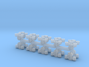 6mm Jetpacks (20pcs) in Smooth Fine Detail Plastic