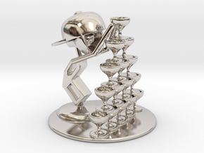 """LaLa """"Playing with wine glass"""" - DeskToys in Platinum"""