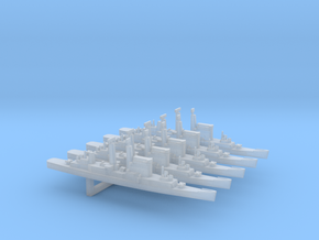 Albany-Class Cruiser x 5, 1/6000 in Smooth Fine Detail Plastic