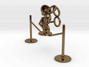 "Lala ""Walking in rope & throwing rings"" - DeskToys in Polished Bronze"