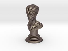 Alien-01 in Polished Bronzed Silver Steel