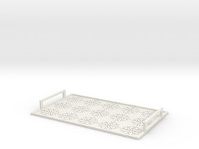 Christmas tray with snowflakes in White Strong & Flexible