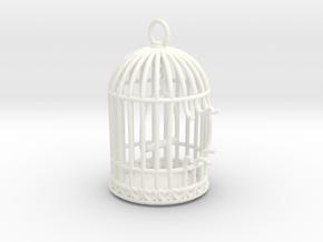 Freedom Birdcage Pendant in White Processed Versatile Plastic