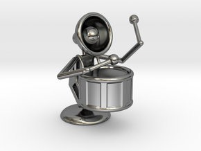 """Lala """"Performing in Drum Band"""" - DeskToys in Fine Detail Polished Silver"""