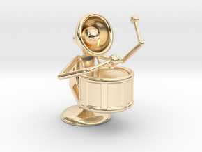 "Lala ""Performing in Drum Band"" - DeskToys in 14k Gold Plated Brass"