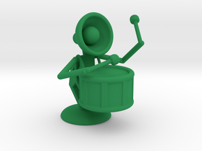 "Lala ""Performing in Drum Band"" - DeskToys in Green Processed Versatile Plastic"