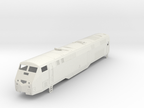 GE P32AC-DM Locomotive H0  in White Strong & Flexible