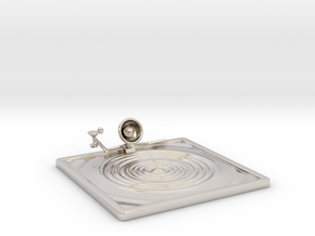 """Lala """"Relaxing in Swimming Pool"""" - DeskToys in Rhodium Plated Brass"""