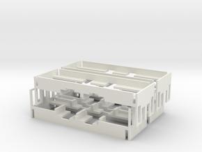 Inneneinrichtung für H,K, M 4er Set in White Natural Versatile Plastic