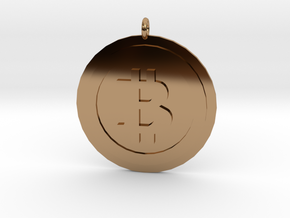 """Bitcoin """"We Use Coins"""" Style in Polished Brass"""
