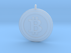 "Bitcoin ""We Use Coins"" Style in Smooth Fine Detail Plastic"