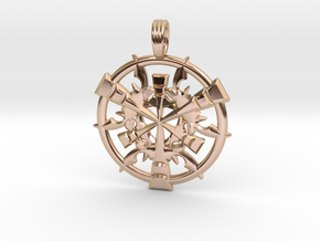 CORAL DIMENSION in 14k Rose Gold Plated Brass