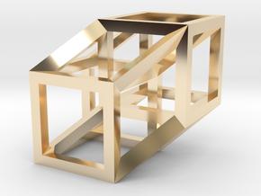 Hypercube in 14K Yellow Gold