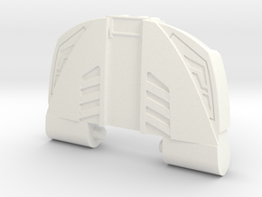 GTR Faux Bonnet Chest Plate in White Strong & Flexible Polished