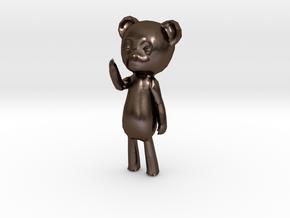 Among the Sleep Teddy Bear in Polished Bronze Steel