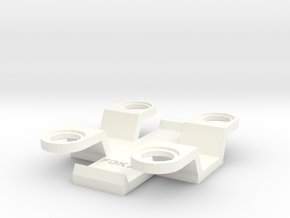 Dynamic FPV Base Universal Adapter in White Processed Versatile Plastic