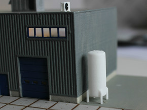 N Scale Cryogenic Tank 28mm in White Strong & Flexible