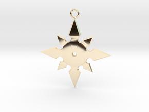 Star Pendant (MK9) in 14k Gold Plated Brass