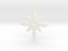 Star Pendant (MK9) in White Processed Versatile Plastic