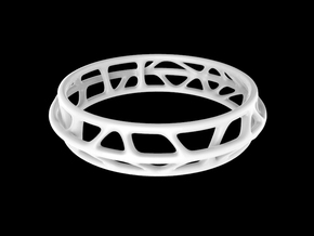 50% OFF - Vertebra Bracelet / Model VTB03 in White Processed Versatile Plastic