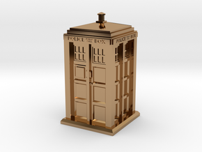 35mm/O Gauge Police Box in Polished Brass