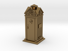 35mm/O Gauge AA Phone Box in Polished Bronze