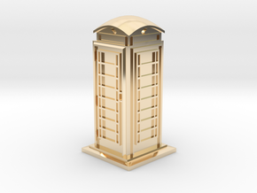 35mm/O Gauge Phone Box in 14k Gold Plated Brass