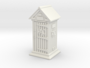 35mm/O Gauge RAC Phone Box in White Natural Versatile Plastic