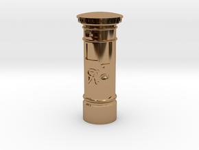 35mm/O Gauge Post Box in Polished Brass