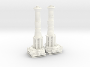 TURBOLASER TOWER CANNONS 1/72 Plastic  in White Strong & Flexible Polished