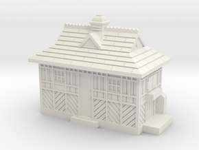 N Gauge - Cabmen's Shelter  in White Natural Versatile Plastic