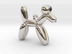 Balloon Dog in Rhodium Plated Brass